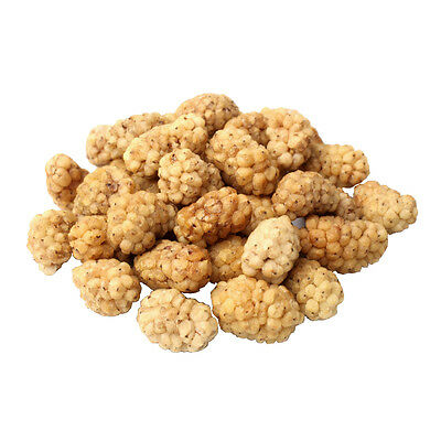 FoodToLive Certified Organic Dried White Mulberries (Non-GMO, Unsulfured, Bulk)