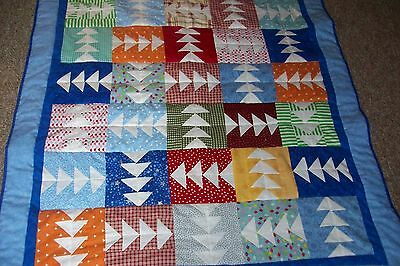 Handmade Little Boy Crib Quilt
