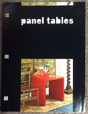 Vintage 1967 Paul Mayen Panel Tables Brochure Mid-Century