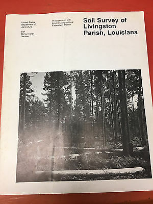 Soil Survey of  Livingston Parish, Louisiana Book with Maps 1991 USDA