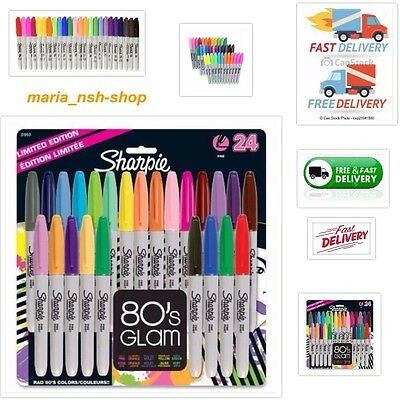 Sharpie Fine Tip Permanent Marker 24-Pack Assorted Colors Ultra New Set Limited