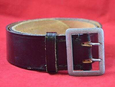 German Military Officer's Leather Belt & Open Claw Belt Buckle Cold War Relic