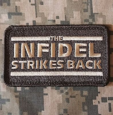 The Infidel Strikes Back Usa Morale Acu Light Hook Patch