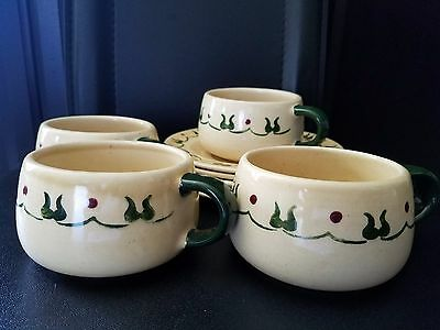 Set of 4  Vtg Metlox Poppytrail HOMESTEAD PROVINCIAL  Cup and Saucer