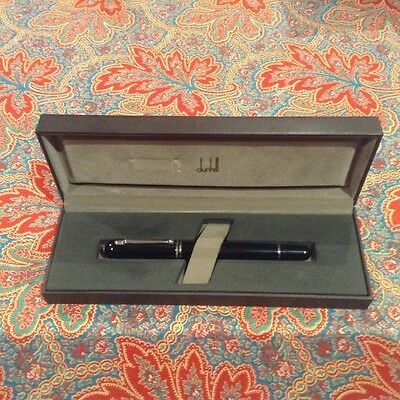 Dunhill Sidecar Mini Black Resin With Palladium Finish Fountain Pen