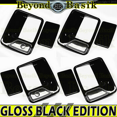 1999-2016 FORD F250 F350 F450 F550 4DR CREW GLOSS BLACK Door Handle Covers W/PSK