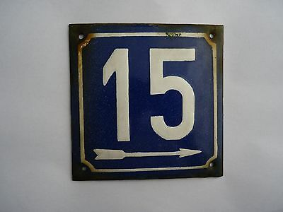 Vintage enamelled plate for your home number 15