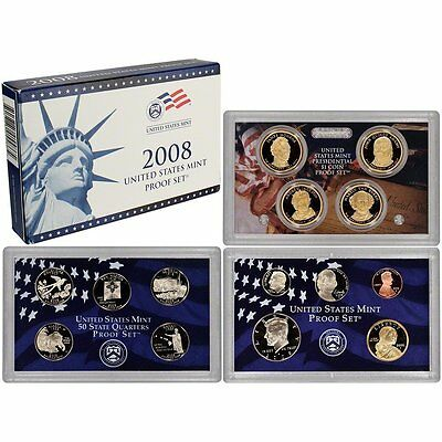 2008-S Proof Set United States US Mint Original Government Packaging Box & COA