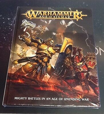 Warhammer Age of Sigmar: Mighty Battles in an Age of Unending War New Hard Cover