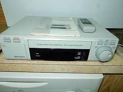 WISECOMM SURVEILLANCE RECORDER TIME LAPSE VCR TLV1280A 30Hr REAL/960 TIME LAPSE