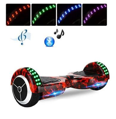 Hoverboard Balance Monopattino Bluetooth – Fiamme rosse – Con LED