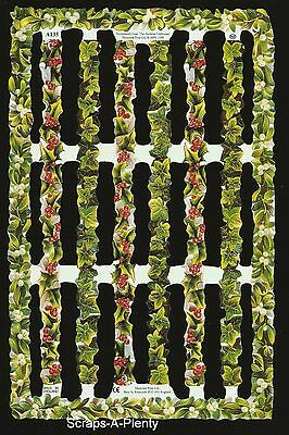 Mamelok English Scrap Die Cut- Flower / Holly Borders (Archives Collection) A135