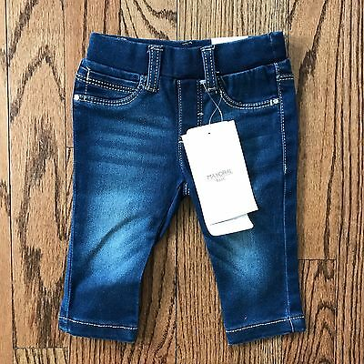 NWT Mayoral Baby Girl Denim Jeans 3M, 3 Months, 0-3