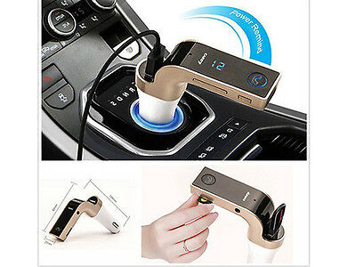 CARG7 Bluetooth FM Transmitter, Wireless, MP3 Player USB Car Charging
