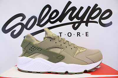 ef85b76d11cee Nike Air Huarache Run Khaki Medium Olive White 318429 200 Sz 8.5