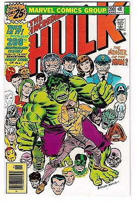 """INCREDIBLE HULK #200 (VF+) Classic Anniversary Issue! """"The Monster or the Man?"""""""