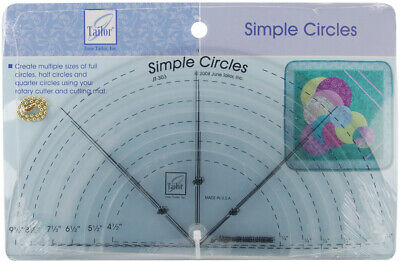 June Tailor JT-303 Simple Circles Rotary Cutting Rulers-6/Pkg