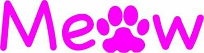 CAT Decal - PINK MEOW PAW Vinyl Sticker TRANSFER