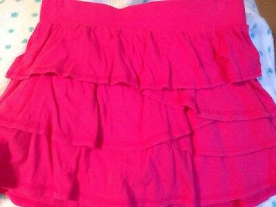 JUSTICE~Girls Pink Ruffled Cotton Skort~SZ 14~Skirt Shorts SPRING