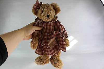RUSS BERRIE TEDDY BEAR CHILD'S COLLECTABLE SOFT TOY Flora y00262