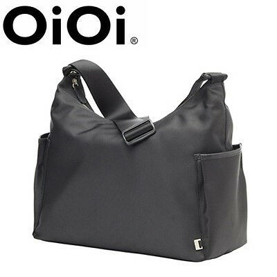 New OiOi black Hobo with hot pink lining Nappy Baby Diaper Bag