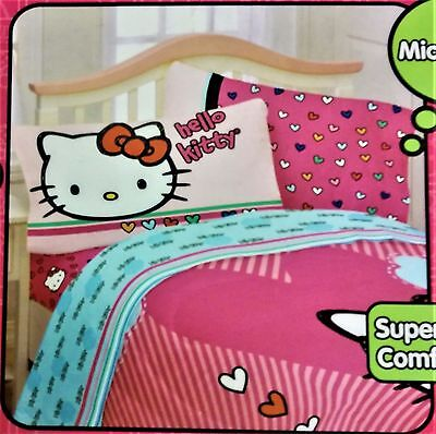 NWT Hello Kitty Full Size Sheet Set - Made of Microfiber