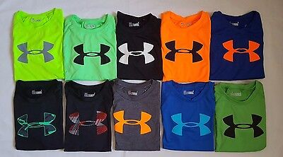 Nwt Under Armour Boys Kids' Heat Gear  T-Shirts Sizes : 4T, 5, 6 & 7