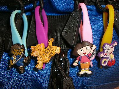 Dora The Explorer Colorful Character Soft Zipper Pulls Charms Set for Backpacks