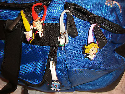 The Jetsons Colorful Character Soft Zipper Pulls Charms Set for Backpacks