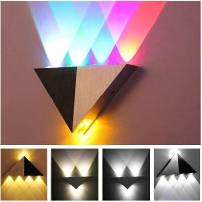 5W Aluminum Modern Triangle LED Wall Light Lamp Home Office Decor Light