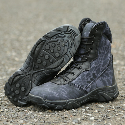 Camouflage Cambat Boots Tactical Waterproof Boots Antiskid Wear Resistant