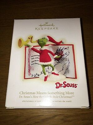 Hallmark 2009 Dr. Seuss The Grinch Christmas Means Something More