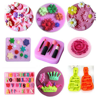 Hot 3D Baking Cokkie Cake Pastry Fondant Decorating DIY Silicone Mould Mold Form