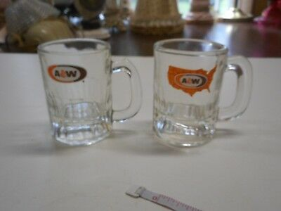 Vintage Lot of 2 A&W Children's Mugs