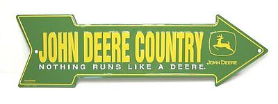 John Deere Arrow Street Sign Farm Country Green Metal Embossed Home Decor New