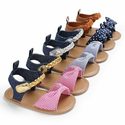 0-18M Baby Infant Kid Girl Soft Sole Crib Toddler Summer Princess Sandals Shoes