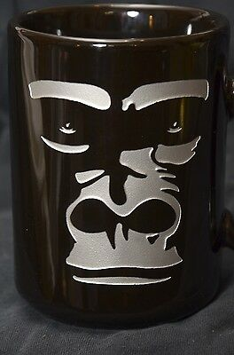 San Diego Zoo Wild Animal Park Gorilla Coffee Mug  Black & Silver Etched Design