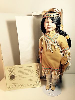 Prestige Collection Indian Doll with baby in papoose w/ COA  Porcelain face NEW