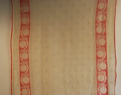 1 PAIR OF 1930s 40s LACE CURTAINS.