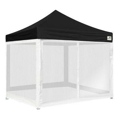 10x10 Ez Pop Up Canopy Outdoor Instant Gazebo Tent with 4 Full Mesh Side Walls