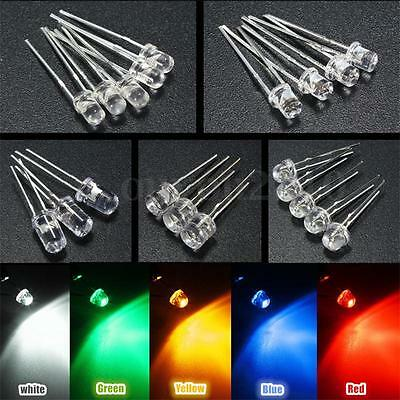 300pcs 3mm/5mm 5 Color Water Clear LED Diode Assortment Lamp DIY Light Diode Kit