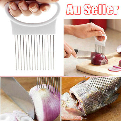 Onion Holder Slicer Vegetable Tool Tomato Cutter Stainless Steel Kitchen Gadget