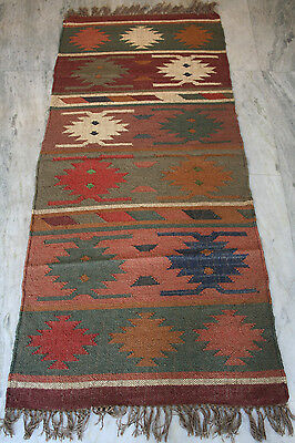 """ANTIQUE AUTHENTIC WOOL HANDMADE HAND KNOTTED PERSIAN RUG carpet RUNNER 30""""X72"""" I"""