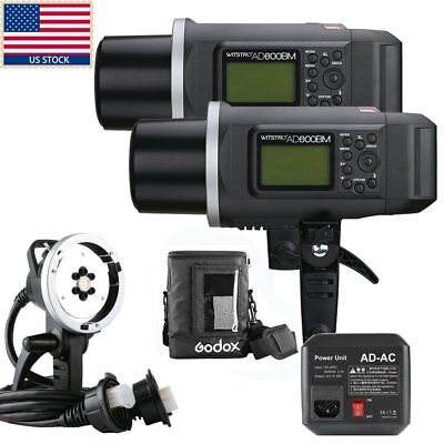 1200W 2x Godox AD600BM 600W HSS 1/8000s Outdoor Studio Flash Bowens Mount Kit