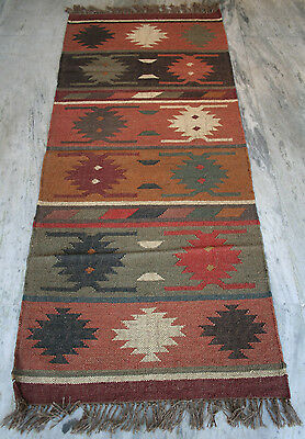 2.5x6 Circa 1930 Persian Vegetable Dye Handmade-Woven Wool Rug Runner Area Rug