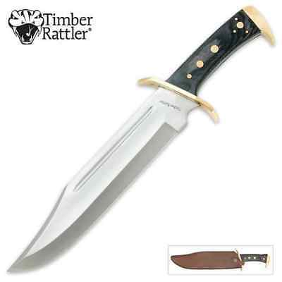 "Timber Rattler - Western Outlaw Bowie 1/4"" THICK FULL TANG 16 1/2"" hunting knife"