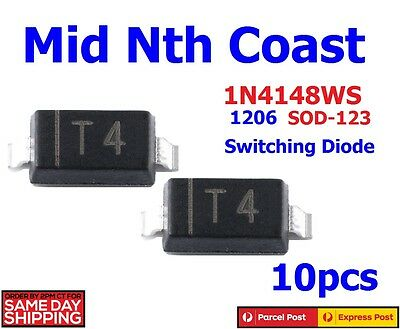 10pc 1N4148WS 1206 1N4148 SOD-123 IN4148 Fast Switching Diodes Sealed Strip 10pc