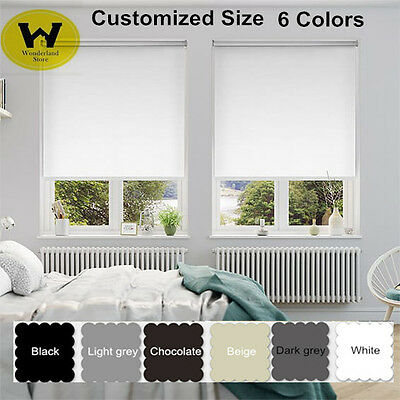 Custom Made Modern Blackout Roller Blinds Commercial Quality  6 Colours