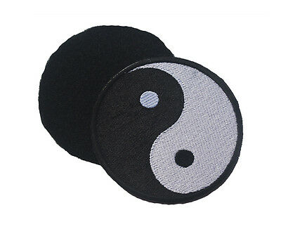 Chinese Feng Shui Yin Yang Tai Chi Taoism 3D MORALE BADGE EMBROIDERED HOOK PATCH
