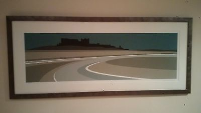 Bamburgh Castle – Panoramic Ian Mitchell Framed Limited Edition Print